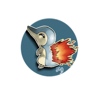 Cyndaquil sticker by Jenny-Doodles