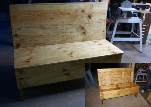Bench Seat With Storage by KW-Scott