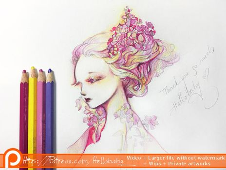 Floral Girl Final by Hellobaby