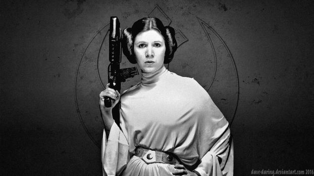 Carrie Fisher Princess Leia XLVII by Dave-Daring