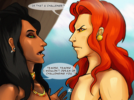 Scar and Mufasa, is that a challenge? by HaitiKage