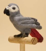Needle Felted Baby Grey Parrot by The-GoblinQueen