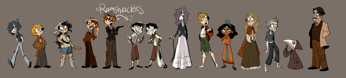 Outdated Character Lineup by Zeddyzi
