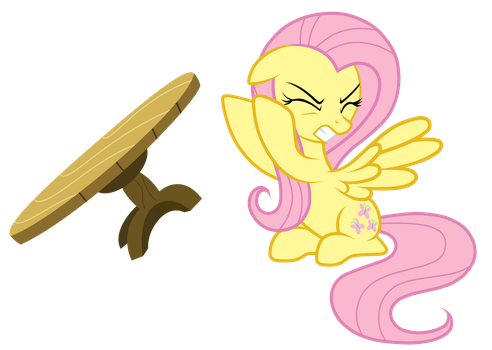 Welcome to the Table Flipping Clan! :D Fluttershy_table_flip_by_junkiesnewb-d5gq4o7