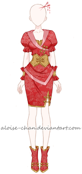 [OPEN] Traditional Outfit Adoptable by Aloise-chan