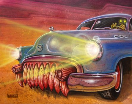 Zombie Buick by mr-biggs