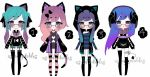 goth kemonomimi adoptables open price lowered by AS-Adoptables