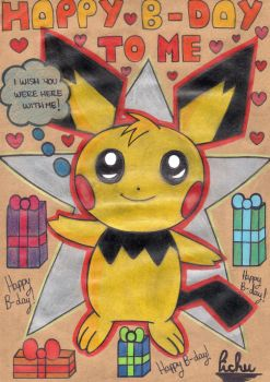Happy Birthday to me by Pichu by MsXMaryX