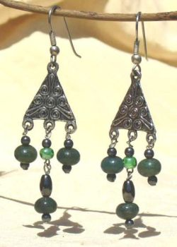 Forest Green Earrings by VincaMinor