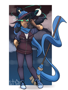 Raven/Night/Scarf Witch by SistarStarly