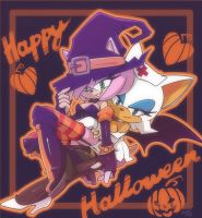 Amy and Rouge +Halloween+ by nancher