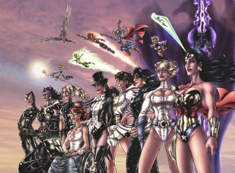 The Women of DC Comics by AdamWithers