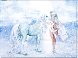 The Angel + The Unicorn by Vickyfab