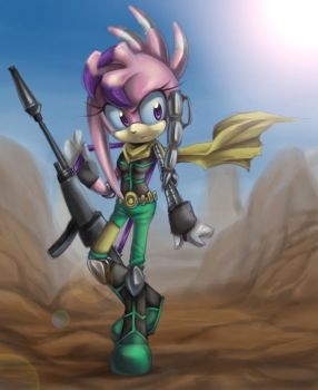 Julie-su and a wild canyon by RoyalThebat