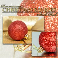 Christmas Baubles Stock Pack by Ravensaura-Stock