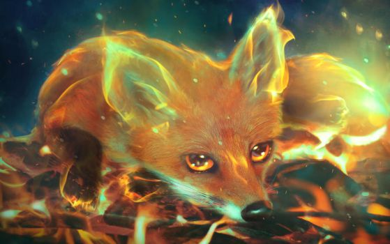 Fire Fox by MariLucia