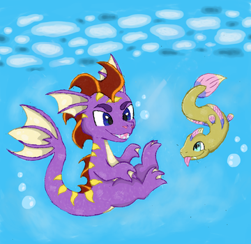 [Art Trade] Spyro the Seadragon by Toadskippers