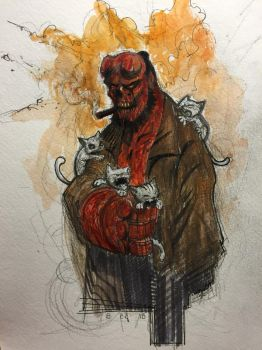 Hellboy Kittens by AlexRuizArt