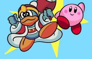 King Dedede and Kirby by ZyronDV