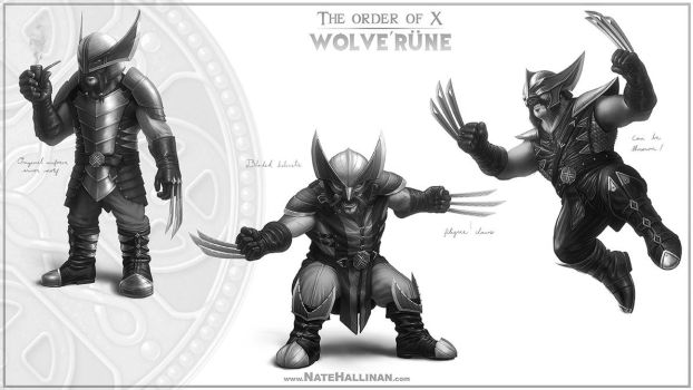 The Order of X - Wolve'rune by NateHallinanArt
