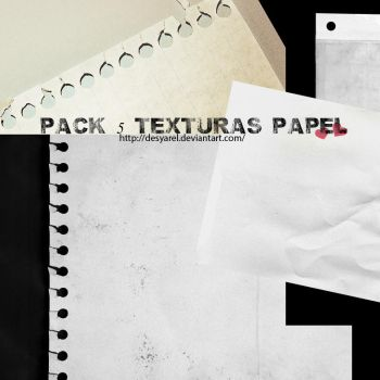 Pack 5 texturas papel by desyarel