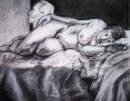Female nude - Drawing V by starchild6891