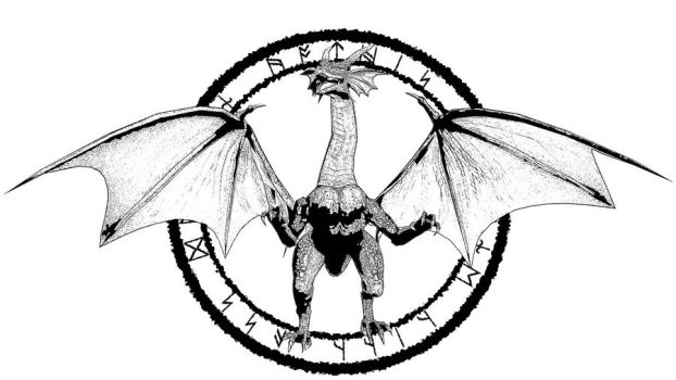 Dragon Stamp Template by NAMhere