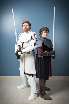 Generals Kenobi and Skywalker by heartgrenaded
