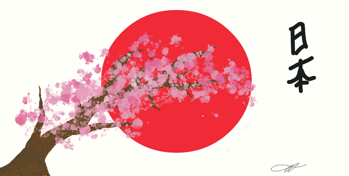 Japan flag by somisista