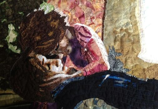 You Were My New Dream - Tangled Art Quilt by daphnetails