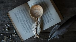 Hand Carved Dream Catcher Spoon by Giles-Newman-Carving