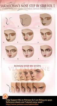 Nose tutorial by sakimichan