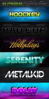 64 PREMIUM Photoshop Styles by fluctuemos