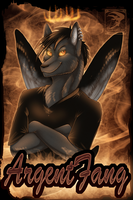 Badge Comish - ArgentFang by TwilightSaint