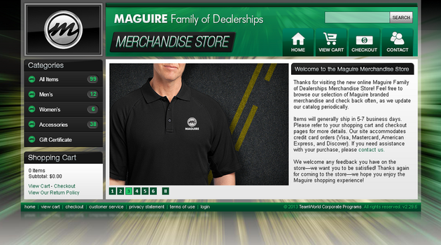Maguire Family of Dealerships Website by Garconis
