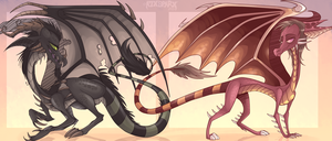 LARGE FIRE-BREATHING REPTILES. But with stripes B) by A7XSparx