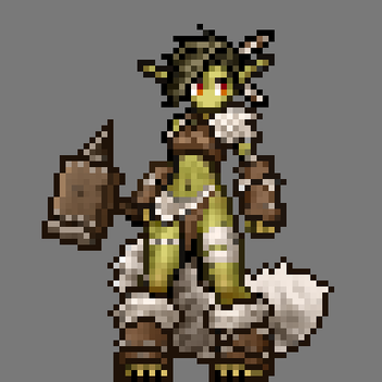 Pixelized Goblin Girl by RoninDude
