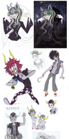 HOMESTUCK SCETCHDUMP by Oldeforce