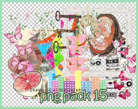 PNG PACK 15 by ChantiiGG