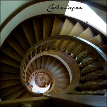 Spiral stairs by Cassiopeeh