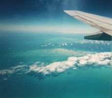 Flight Over the Caribbean Sea by ShipperTrish