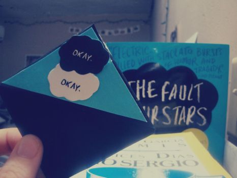 The Fault in Our Stars Bookmark by febito