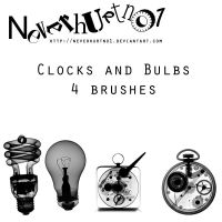 Clock and Bulbs Brushes by neverhurtno1