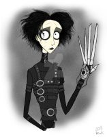 A Man with Scissors by Madame-Kikue