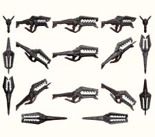 Mass Effect 2, Collector Assault Rifle Reference. by Troodon80