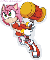 Amy Rose attack by heitor-jedi