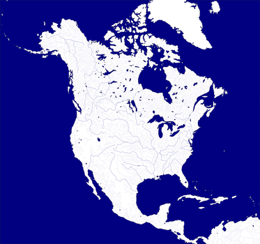 Maps Of Rivers And Lakes Of NorthAmerica Labeled Outline Map - Us lakes and rivers map