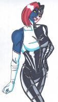 Mystique- Change of Face-Catwoman by RobertMacQuarrie1