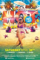 Hot Summer Flyer Template by koza30