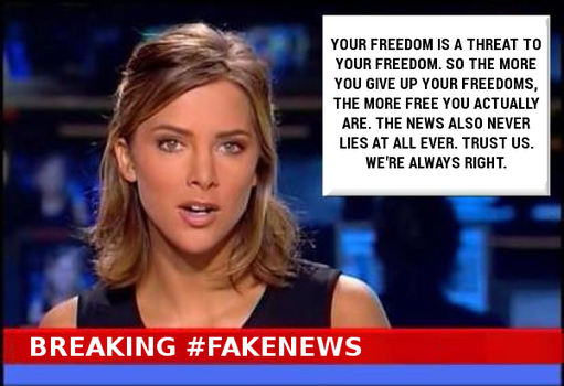 Breaking #FakeNews Freedom by paradigm-shifting